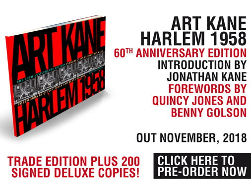 """""""ART KANE. HARLEM 1958""""<br/>DATA PUBBLICAZIONE: 12 NOVEMBRE 2018"""