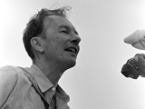 PETE SEEGER, Newport Folk Festival, 1965. by JOE ALPER