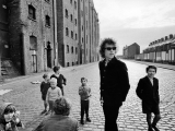 BOB DYLAN, KIDS ON STREET, LIVERPOOL, 1966. by BARRY FEINSTEIN