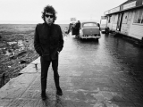 Bob Dylan, Aust Ferry, Bristol, 1966. by BARRY FEINSTEIN