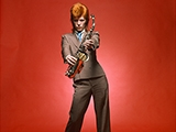 David Bowie, Sax Full Length Color, Londra, 1973 by MICK ROCK